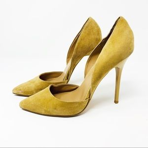 Steve Madden Varcityy Suede Leather D'Orsay Pumps